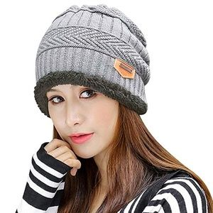 bd8cf0ccefcc5b Accessories - Winter Knit Skull Cap Woolen Slouchy Beanie Hat